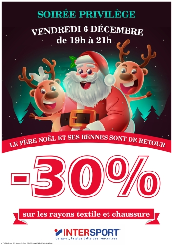 intersport promo décembre 2019